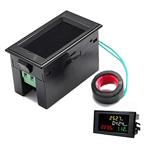ROUHO 100A Ac 200-450V Led Digital Voltmeter Ammeter Power Energy Voltage Current Meter Charger Tester Detector Monitor