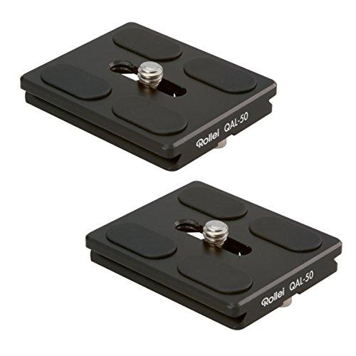 Rollei QAL-50 I professionelle Kamera-Schnellwechselplatte/Schnellverschlussplatte I Passend für alle Kameras mit 1/4 Stativgewinde und Arca Swiss kompatibel I 2 er Pack