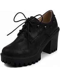Frühling und Herbst Wasserdicht Schreibtisch, Einzelne Schuhe, Damen Schuhe Große Werften, Braun, 39