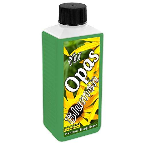 GREEN24 Opas Blumen-Dünger Universal-Dünger für Garten- und Zimmerpflanzen als flüssige Geschenk-Idee/Großvater