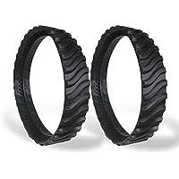 Neumáticos de orugas, Neumáticos de Repuesto de orugas/Neumáticos de orugas de natación/Neumáticos de Huellas, Limpiador de Piscinas Llanta de Goma para Llantas para Zodiac MX8 MX6, 2 Piezas