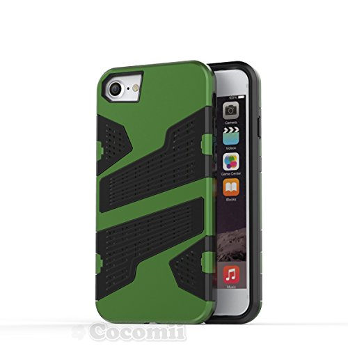iPhone 8 / 7 / 6S / 6 Coque, Cocomii Deadpool Armor NEW [Heavy Duty] Premium Tactical Grip Slim Fit Shockproof Hard Bumper Shell [Military Defender] Full Body Dual Layer Rugged Cover Case Étui Housse  Green