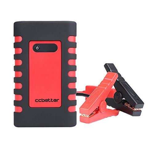 Preisvergleich Produktbild Auto Starthilfe, CCbetter 400A Spitzenstrom 10000mAh Tragbare Auto Anlasser Multifunktions Notfallkoffer mit Auto-Ladegerät, AC/DC-Adapter Und Aufblasbare Düsen (Rot&Schwarz)
