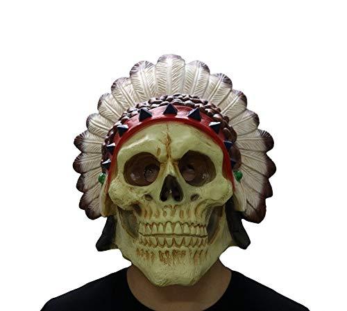 ieyol Deluxe New Dress up Halloween Indianer Kost¨¹m Cosplay Neuheiten Latex Sch?del Kopf Masken f¨¹r lustige (Deluxe Schweine Maske)