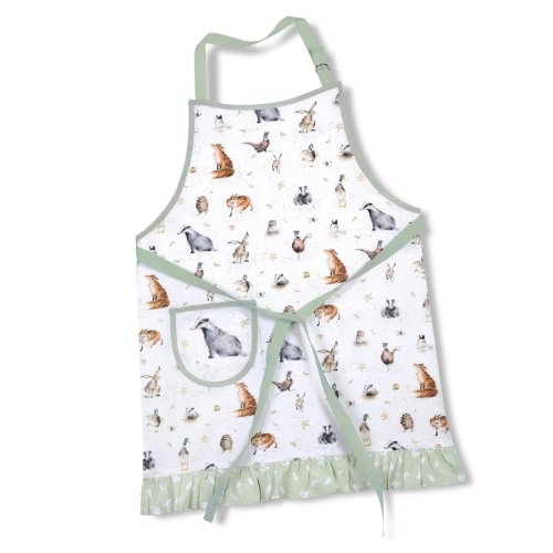 Wrendale Cotton Drill Apron Royal Worcester Bänder