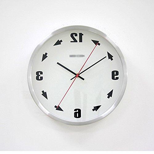 Flüsterleiser Uhr Zeit Gegenstrom Gegenstrom Metall Wanduhr günstigen Preis. ( Farbe : 2 )