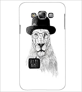 PrintDhaba Lion Sketch D-1060 Back Case Cover for SAMSUNG GALAXY A7 (Multi-Coloured)
