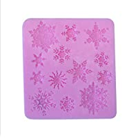 Snow Snowflake Shape Silicone Cake Mold Bakeware Mould For Chocolate Soap Candy Christmas Fondant Cake Decorating Tools
