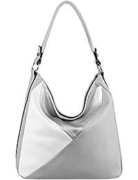 953c136b4e9b6 OBC DAMEN TASCHE XXL Metallic Shopper Hobo-Bag Umhängetasche Leder Optik  Henkeltasche Schultertasche Beuteltasche Handtasche…