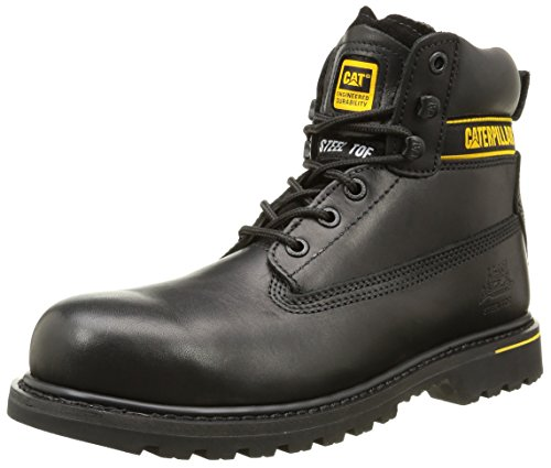 Caterpillar Holton S3 HRO SRC/Mens Black Ankle Boots