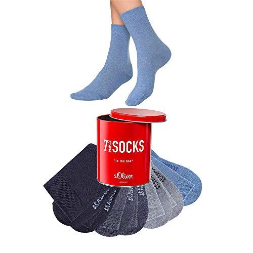 S.OLIVER ®, 7 Paar Unisex Socken, Damen und Herren, Freizeit und Business (43/46, 7 x jeans)