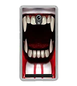 PrintVisa Designer Back Case Cover for Asus Zenfone 5 A501CG (Horror Ghost Horror Images teeth with Blood)