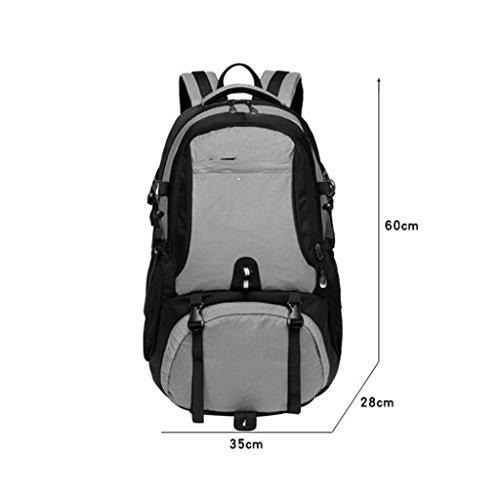 AMOS Zaino da viaggio alpinismo sacchetto di alpinismo grande capacità zaino borsa da viaggio leggero maschio viaggio femmina camminando a piedi 60L ( Colore : Rosso ) Rosso