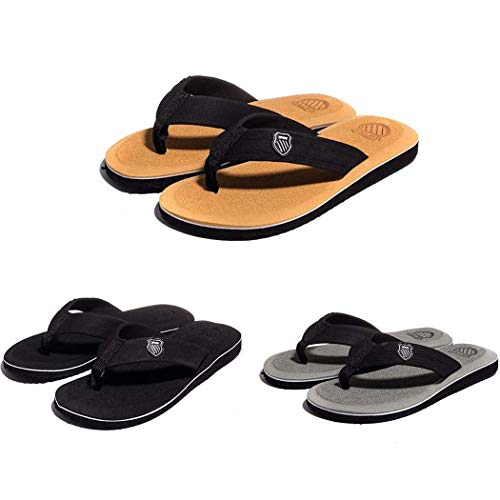 Voiks Mens Womens Walking Flip Flops Beach Summer Sandals Outdoor Casual Flip...
