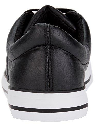 oodji Ultra Uomo Sneakers in Pelle Sintetica con Punta in Gomma Nero (2910B)
