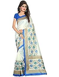 Winza Designer Womens Printed Bhagalpuri Cotton Silk Party Wear With Blouse Saree