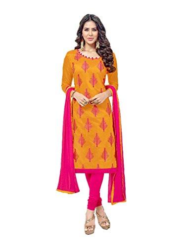 Shree Ganesh Retail Womens Chanderi Churidar Salwar Kameez Unstitched Dress Material (1002...