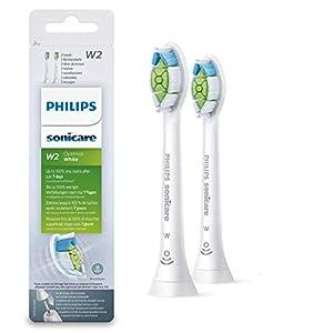 Philips Sonicare Original Aufsteckbürste Optimal White HX6062/10, 2x weniger Verfärbungen für weißere Zähne, 2 Stück