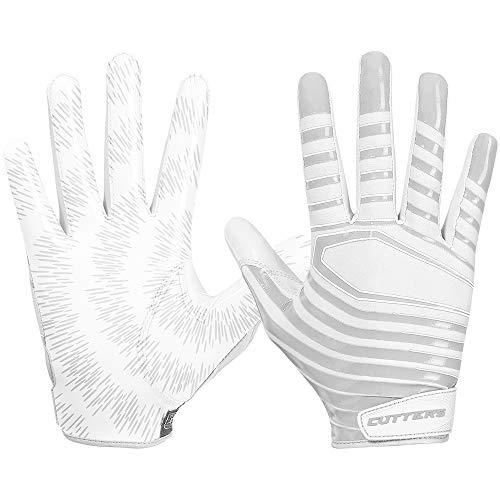 Cutters Gloves S252 Rev 3.0 American Football Receiver Handschuhe Modell 2018 - weiß Gr. L