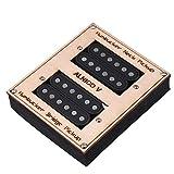 JUNERAIN 2PCS/Box Nero Doppia Bobina humbucker per la Chitarra elettrica Parts