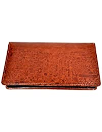 Pareek Brown Expanding Cheque Book Holder Travelling Document Bag(Set of 12)