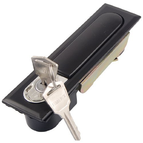 Elektrische Cabinet Pop Up Metall schwarz Flugzeug Lock w 2Pcs Keys