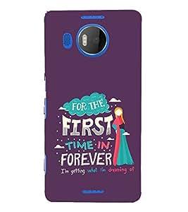 FUSON First Time Forever 3D Hard Polycarbonate Designer Back Case Cover for Microsoft Lumia 535 :: Microsoft Lumia 535 Dual SIM :: Nokia Lumia 535