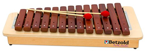 Betzold Musik 84257 - Kompakt-Sopran-Xylophon Sopran - diatonisch c2 bis a3. 16 Klangstäbe - Xylofon Konzert Orchester Musikinstrumente Musik Schule lernen Schlagstabspiel Stabspiel Musikschule