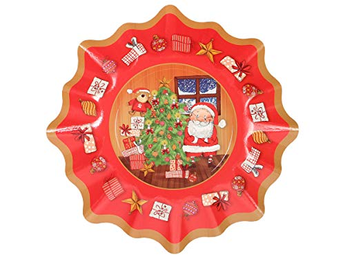 Alsino Weihnachts-Pappteller in Sternform ca. 28 x 14 cm Weihnachtsdekoration, Farbe:960200 Weihnachtsteller-6