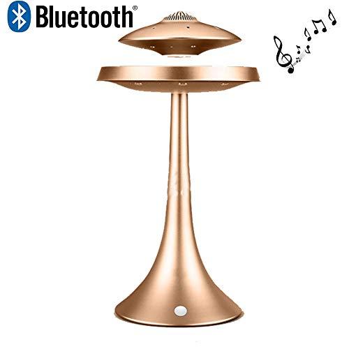 LIRONG UFO Magnetic Suspension Lautsprecher Sieben Farbe Drahtlose Bluetooth Stereo Lautsprecher 1200 mAh Mode Kreative Geschenk,Gold