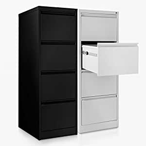 armoire pour dossiers suspendus office marshal en 2 coloris meuble classeur avec 4 tiroirs. Black Bedroom Furniture Sets. Home Design Ideas