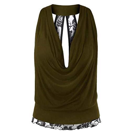 Oksea Sexy rückenfreies legeres Top Damen Sommer Rückenfrei T-Shirt Sexy Oberteile Bluse Top mit Kurzarm Damen Sommer Rückenfrei T-Shirt Sexy Oberteile Bluse Top mit Kurzarm -