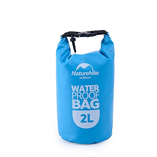 Cami Dry Bag leichte wasserdichte PVC 500D Camping Bootfahren Angeln Rafting Kajak Schwimmen Outdoor-Aktivitäten und Wassersport schützt Handys / Kameras / Bekleidung / Dokumente Wasser, Sand, Staub u blau 2L