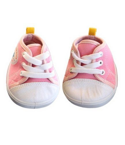 Pink Star Tennis Shoes Teddy Bear Clothes Fits Most 14 - 18 Build-a-bear, Vermont Teddy Bears, and Make Your Own Stuffed Animals by Stuffems Toy Shop