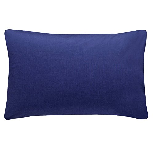 just-contempo-plain-percale-pillow-case-50-x-75-cm-navy-blue-pack-of-2