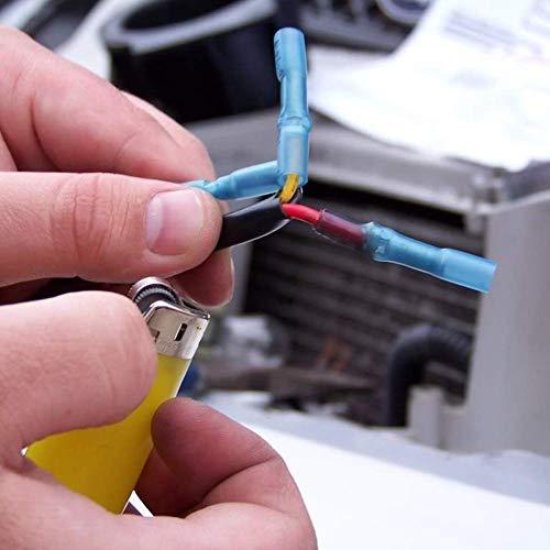 Stoßverbinder Schrumpfstoßverbinder 200 Stk. Quetschverbinder Lötverbinder Kabelverbinder wasserdicht stoßverbinder 3 verschiedene Größen