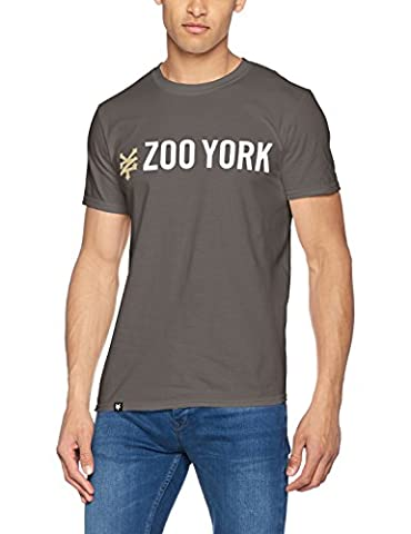 Zoo York Gallant, T-Shirt Homme, Gris (Anthracite), XX-Large