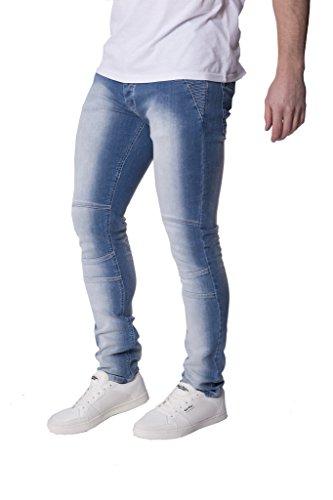 Herren Seven Series Corona Stretch Eng Jeans Designer Stone Washed Denim-hose Helle Waschung