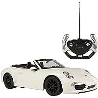 Rastar - Coche teledirigido Porsche 911 Carrera S, escala  1:12, color blanco (ColorBaby 85010)