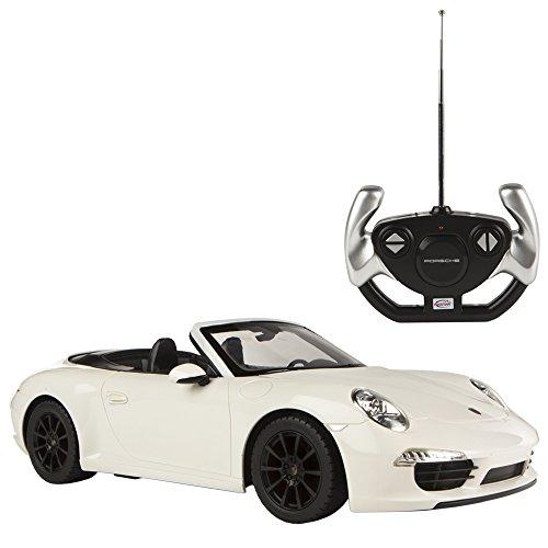 Rastar - Coche teledirigido 1:12, Porsche 911 Carrera S blanco (ColorBaby 85010)