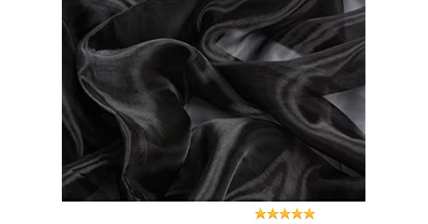 1m LENGTHS CLEARANCE SALE SHEER BLACK ORGANZA FABRIC MATERIAL 150cm WIDE