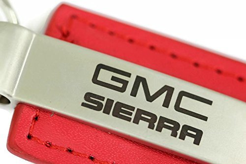 dantegts-gmc-sierra-leather-key-chain-red-rectangular-key-ring-fob-lanyard