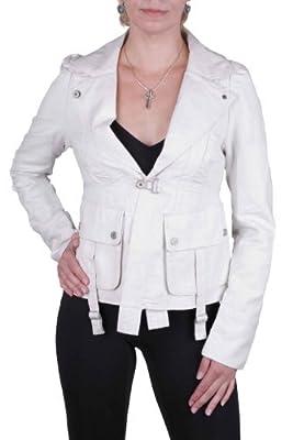 DIESEL Women's Jacket Blazer Jacket Expor Cream
