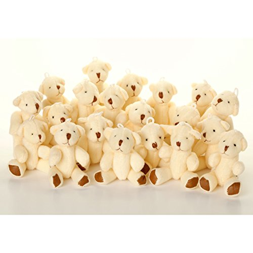 NEW Cute And Cuddly Little WHITE Teddy Bear X 28 - Gift Present Birthday ()