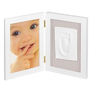 My Sweet Memories 34122000 - 2-teiliger Rahmen für Foto und Baby-Abdruck, weiß