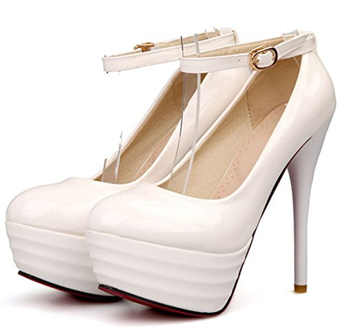 YE , Bride cheville femme Blanc - Blanc