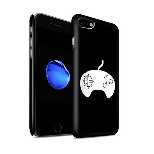 STUFF4 Matte Snap-On Hülle / Case für Apple iPhone 8 / Weiß PS4 Muster / Spielsteuerung Kollektion Weiß Mega Drive
