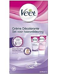Veet - Crème Décolorante Visage et Corps 2x75 ml