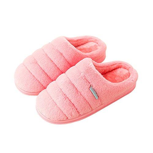 YMFIE Chers Chaussons en coton intérieur en daim mignon chaussons en hiver B