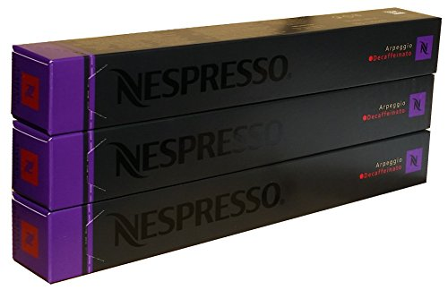 Nespresso Capsules - Arpeggio Decaffeinato - 30 Capsules, 3 Sleeves - New Decaf variety  Nespresso Capsules – Arpeggio Decaffeinato – 30 Capsules, 3 Sleeves – New Decaf variety 41Rf8qFdD7L